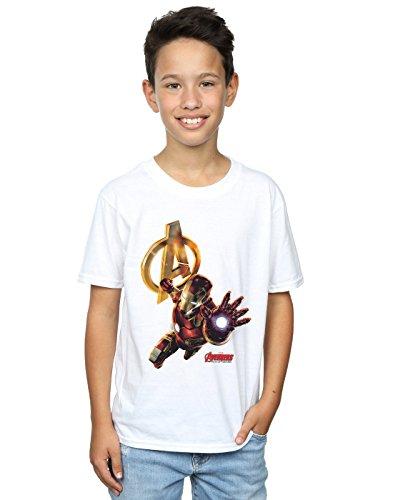 Marvel niños Iron Man Pose Camiseta 12-13 Years Blanco