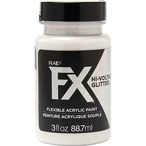 PlaidFX - Vernice acrilica flessibile, con glitter, ideale per superfici flessibili e cosplay, senza crepe o screpolature, resistente, 85 ml, Acrilico, Iridescente, 3 oz