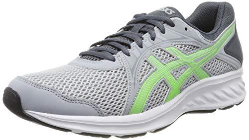 Asics Jolt 2, Zapatillas de Running Unisex Adulto, Gris (Piedmont Grey/Green Gecko 023), 35 EU