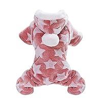 XINGGUANGソフト猫犬服フリース子犬チワワの服冬コートスーツ犬コスチュームパジャマ小中犬猫ペット服 猫