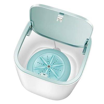 Mini Desktop Washing Machine,Portable Quiet Washing Machine,Ultrasonic Turbine Washer Lazy Magic Laundry Machine,USB Chargeable, specially used to wash underwear/baby clothes (Blue)