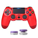 Game Wireless Controller for PS4, Zamia Wireless Bluetooth USB Controller Gamepad Joy pad Built-in Gyro/Speaker/Dual Vibration (Red)