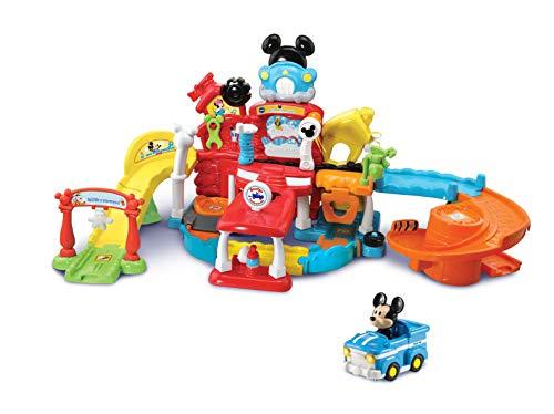 VTech 80-534804 Tut Tut Baby Flitzer - Mickys Autowerkstatt, Babyspielzeug, Spielzeugauto, Kinderauto, Garage für Kinder