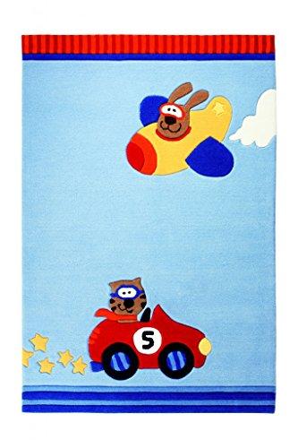 Sigikid Kinderteppich Happy Street Cars | blau | 170 x 240 cm