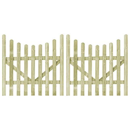 Tuinpoorten 2 stuks FSC Geïmpregneerd grenenhout 150x150 cm Hardware Hekwerk & Barrières Poorten