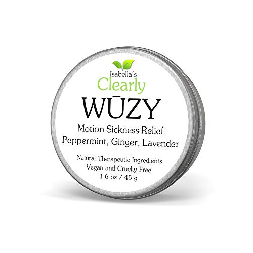 Clearly WŪZY, Aromatherapy Herbal Anti Nausea Rub | Relief for Morning and Motion Sickness, Dizziness, PMS, Pregnancy, Travel | Natural Remedy with Ginger, Peppermint, Lavender | Made in USA