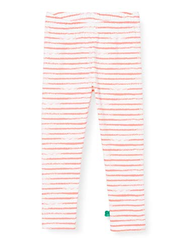 Fred'S World By Green Cotton Ocean Stripe Leggings Baby, Rouge (Coral 016164001), 74 Bébé Fille