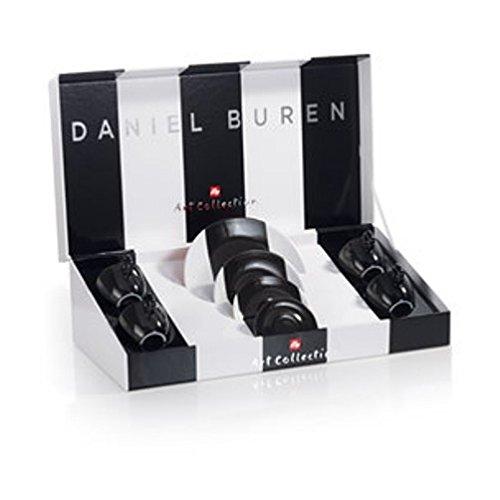 Illy 4 Tazas de Espresso Art Collection Daniel Buren, cerámica, Multicolor