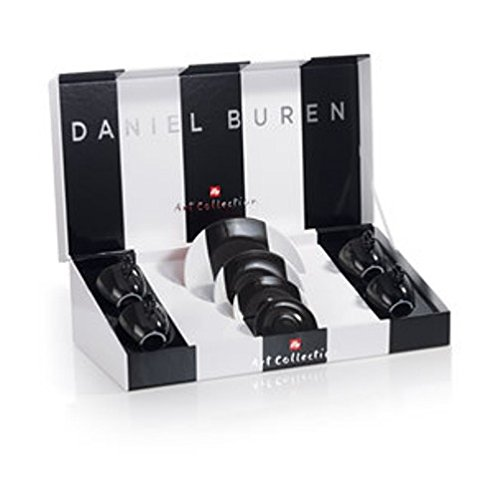 Illy 4Espresso-Tassen Art Collection Daniel Buren, Keramik, Mehrfarbig