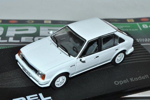 Ixo Opel Kadett D GTE Weiss 5 Türer 1979-1984 Modell ab 1983 Nr 84 1/43 Modell Auto mit individiuellem Wunschkennzeichen