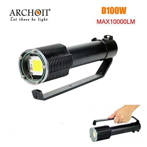 PhilMat Archon d100w 100w LED 10000lm immersione professionale torcia elettrica LED