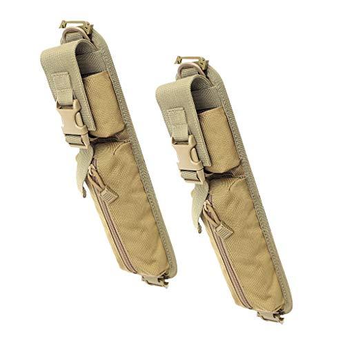 Hellery 2Pcs Molle Tools Bag Mochila Bolsa con Correa para El Hombro para Acampar