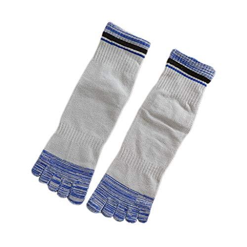 Tubo de algodón del dedo del pie dedo Los calcetines de los hombres de calcetines y otoño invierno espesado de Split Toe calcetines retro Deportes Cinco calcetines del dedo del Hombre japonés Mecha