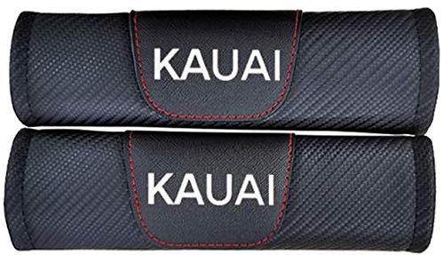 YFBB 2Pcs Car Carbon Fibra Almohadillas Cinturón Seguridad, para Hyundai Kauai Ajustable Adecuada Adultos Niños Comfort Protection, Auto Seat Belt Shoulder Estilo Accesorios