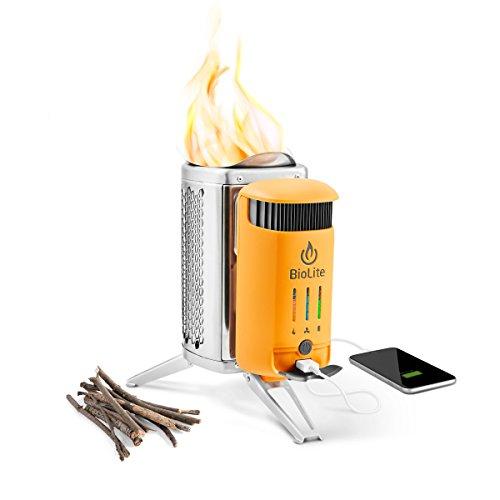 Biolite CampStove 2+ -Campingkocher mit Akku, USB-Ladeausgang, FLexLight 100
