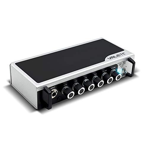 ZXCV Amplificador de Guitarra, con Cabezal Amplificador de Plataforma de Pedal de Asfalto Overdrive de distorsión de reverberación, con SIM,Negro