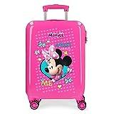 Disney Minnie Happy Helpers Maleta de cabina Rosa 34x55x20 cms Rígida ABS Cierre combinación 34L 2,6Kgs 4 ruedas dobles Equipaje de Mano