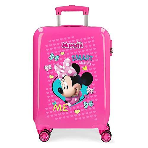 Disney Minnie Happy Helpers Maleta de cabina Rosa 34x55x20 cms Rígida ABS...