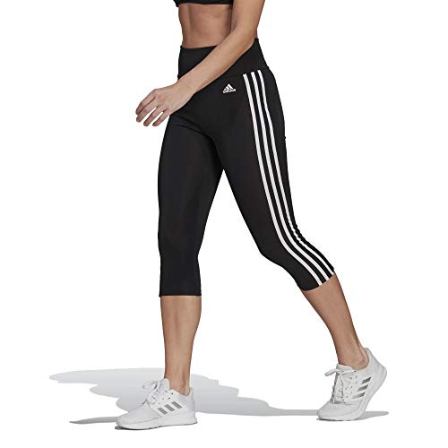 adidas 3 Stripes 3/4 Tights Leggings (XS, Black/White)