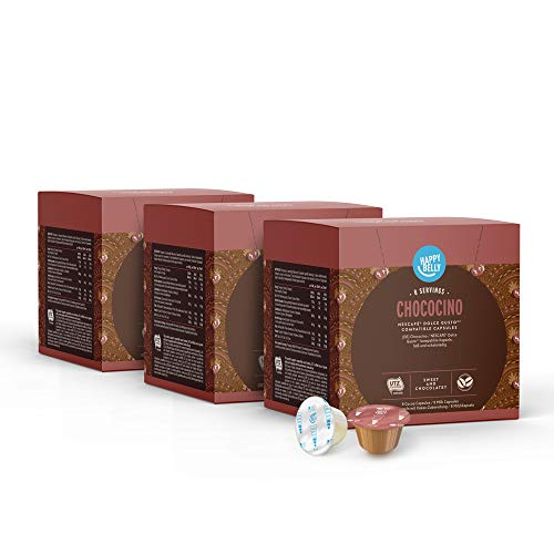 Marque Amazon - Happy Belly Chococino capsules compatibles avec NESCAFÉ® Dolce Gusto®, 3x16 capsules (24 portions)