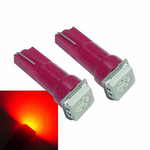 PA Lot de 50 ampoules LED pour tableau de bord SMD T5 74 286 12 V Rouge