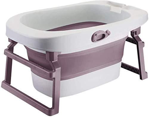 Bañera plegable infantil, bañera portátil, bañera portátil, puede sentarse bañera neonatal. Uso...