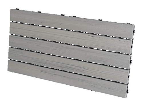 EON 12'x24' Deck and Balcony Tiles Pack of 5, Grey - 10 sq.ft./Pack. (Limited Stock remaining)
