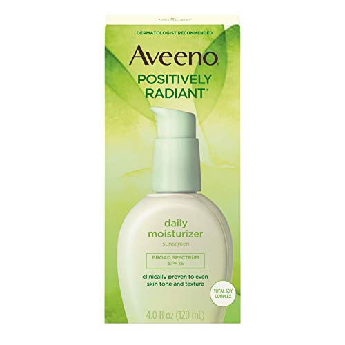 Aveeno Positively Radiant Hydratant quotidien 4# 15 Fps Ounce (118ml) (6 Pack)