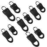 ADICOM Universal Detachable Zipper Puller Set, Replacement Zipper Tags Zip Fixer, Wide Waistbands Elastic Waist, Detachable Zipper Pulls, for Coats, Sportswear and Bags (E)