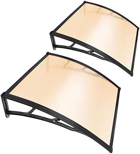 Yescom 2Pcs 40x40 Window Door Awning Sun Shade Canopy One Piece Polycarbonate Sheet UV Rain product image