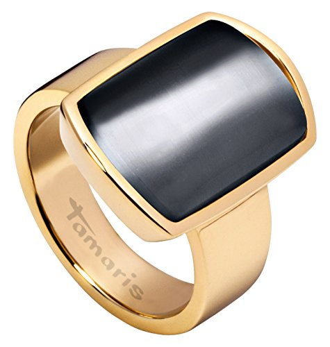 Tamaris Becky - Anillo de acero inoxidable, color dorado, talla 52 (16.6) (A03411062)