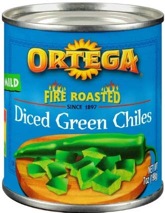 Ortega, Fire Roasted Diced Green Chiles 7oz Can