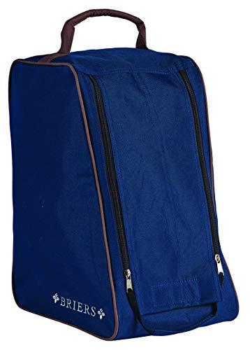 Briers Genuine Waterproof Navy Wellington Boot Bag Outdoors Protection Twin Zip Light Weight Storage Shoe Bag