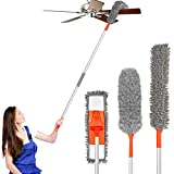 Baban Dusting Kit Microfiber Duster with 3 Extension Pole 5.54FT Cleaning Kit with 3 Attachments Microfiber Mop Flexible...