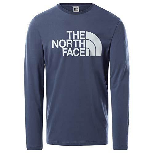 The North Face – Maglia da Uomo Half Dome – Manica Lunga - Vintage Indigo, S
