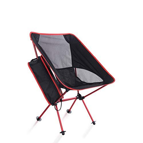 MOKA OUTDOOR Tragbarer Camping Klappstuhl, ultraleichter Rucksack mit Tragetasche, geeignet für Outdoor, Camping, Angeln, Strand, Reisen,Red
