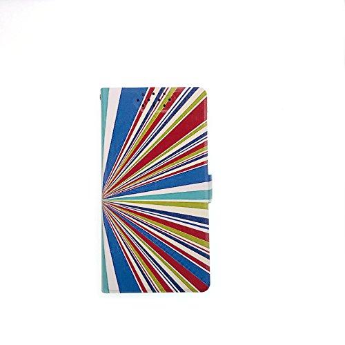 Stengh Meizu M15 Hülle, Clamshell Muster Eingebaute Karte Tasche Leder Cover für Meizu M15 XC