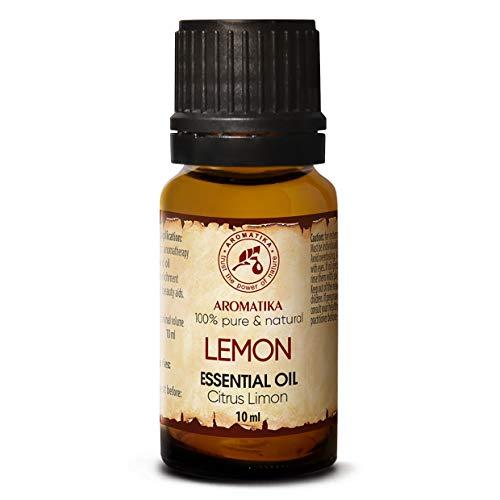 Aceite de Limón 10ml - Limón Cítrico - Italia - Aceite de Limón 100% Puro Para un Buen Sueño - Cuidado corporal - Belleza - Relajación - Aromaterapia - Difusor de Aroma - Lámpara de Aroma