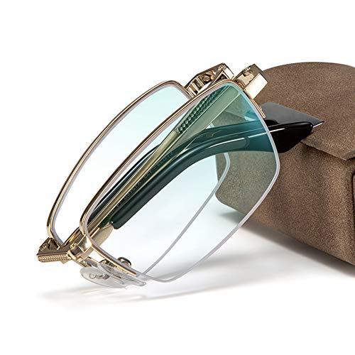 GAOYUN Gafas de Lectura Plegables Multifoco Progresivas para Hombres, Diseño Elegante Ligero...