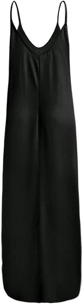Womens Casual Gradient V Neck Sleeveless Plus Size Summer Spaghetti Strap Dress Navison Maxi Dresses for Women