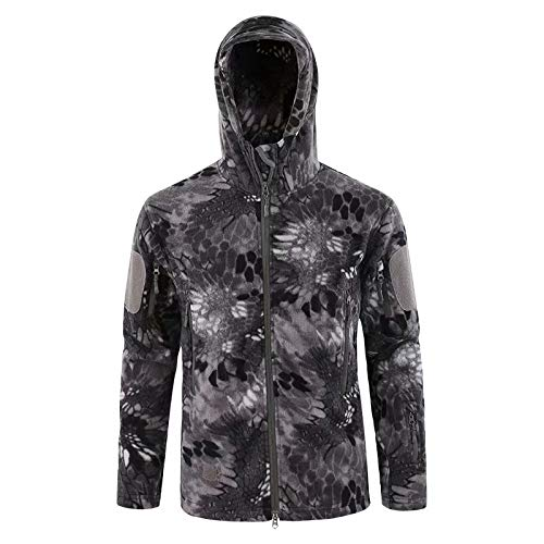 MILASIA Tactical Softshell Jacket Combat Fleece Jacket Hommes Veste Militaire Veste Airsoft Paintball Veste Randonnée Veste en Plein Air Veste Hiver pour Camping Chasse Trekking, S