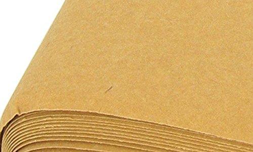 Tejido Kraft Text Bolt de 48 cm ancho.Tela Kraft con aspecto de cartón.Se vende a metros - Kadusi