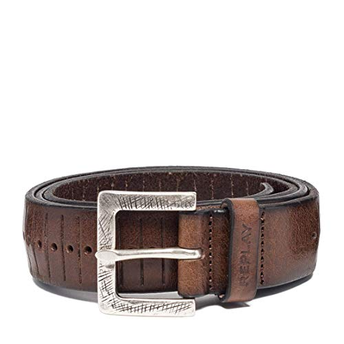 REPLAY Am2555.000.a3007 Cinturón, Negro (Faded Black Brown 127), 120 (Talla del fabricante: 105) para Hombre