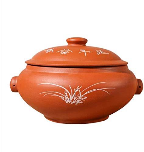 Clay Pan Clay Pots for Cooking Simmering Steam Pot Not-Stick Slow Cooking Heat-Resistant Crockpot A 4.2Qt/4L-THE_4.2Qt/4L