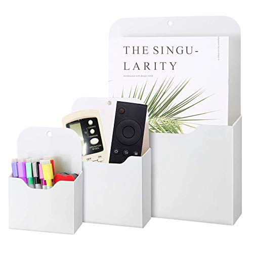 DAYREE 3pcs Magnetic File Holder Magnetic Paper Pencil Holder Mail Planners Case for Notebooks Letter Pen Magnetic Wall File Organizer Whiteboard Office Refrigerator Locker