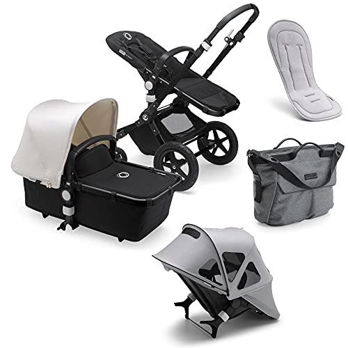 Bugaboo Cameleon 3 Plus - Cochecito de bebé 2 en 1 para recien nacidos y niños, incluye capota ventilada, colchoneta ventilada, bolso cambiador y protector de lluvia