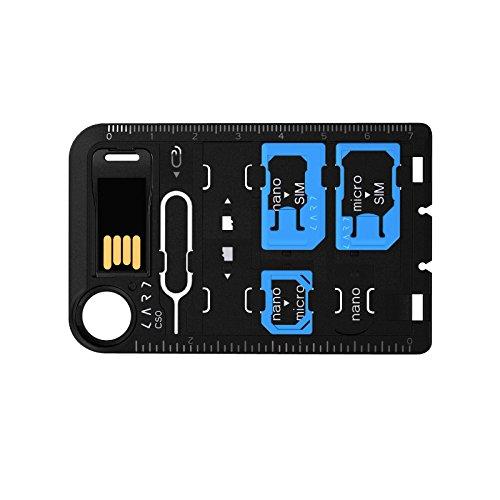 MOBO SIMカード変換アダプタ マルチツール 「 Card Storage 」 イジェクトピン/microSDカードリーダー付属 AM-SACS-01