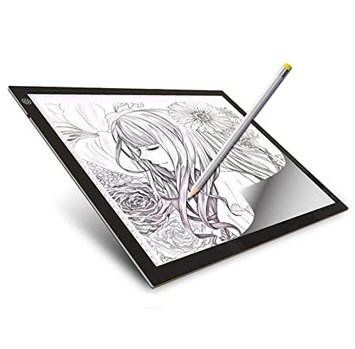 SMGPYLFJ A3 Light Pad, Tracing Light Pad Caja de luz LED portátil ultradelgada Tracer Cable de alimentación USB Regulable, para Artistas Dibujar Bocetos Animación Visualización de Rayos X,A3