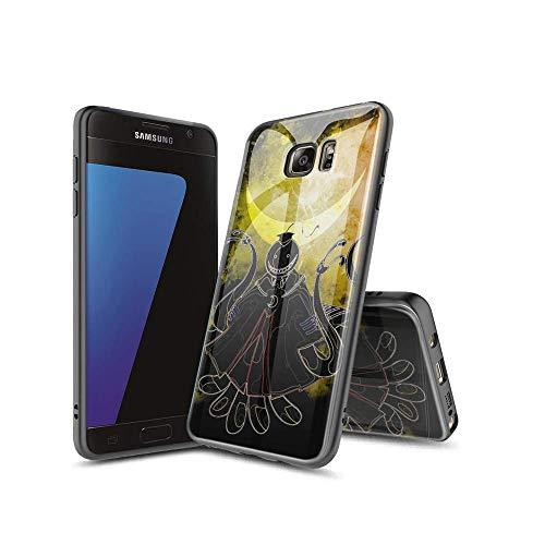 XiASoNFu Compatible con Samsung Galaxy S7 Edge Funda, Carcasa Protectora de Cristal Templado con Tapa Trasera, Dureza 9H, Marco de TPU Flexible Case Cover para Samsung Galaxy S7 Edge #A007