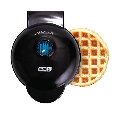 Dash DMW001BK Machine for Individual, Paninis, Hash Browns, & other Mini waffle maker, 4 inch, Black